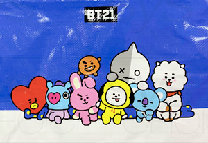 BT21 Tarpaulin Bag with Zip