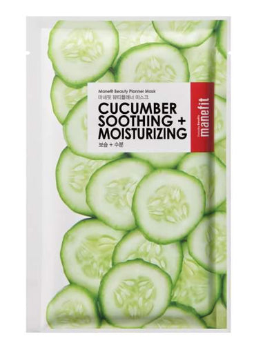 Manefit Beauty Planner Box of 5 Cucumber Soothing+Moisturizing Mask