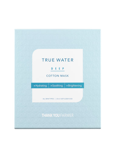 THANK YOU FARMER True Water Deep Cotton Sheet Mask 25ml (1 sheet mask)