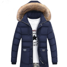 LouisAura™ Male Casual Design Hooded Long Thick Warm Parka Coat