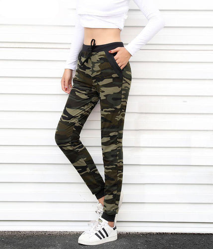 LouisAura™ Female Camouflage Jogger Pants