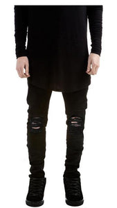 LouisAura™ Male Skinny Ripped Designer Jeans