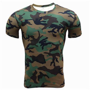 LouisAura™ Male Army Camouflage Slim fit T-shirt