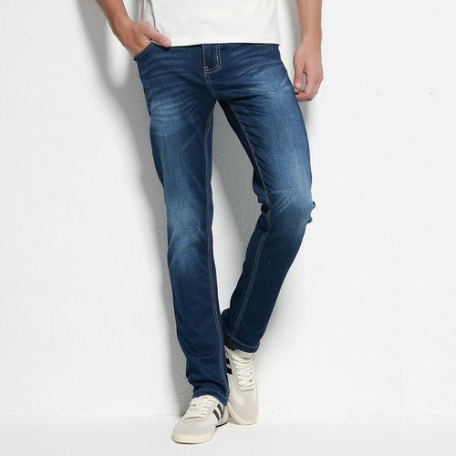 LouisAura™ Male Dark Blue Designer Jeans