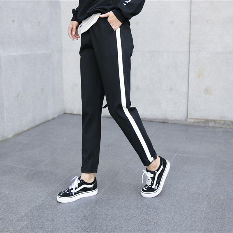 LouisAura™ Female Leather Striped Pants