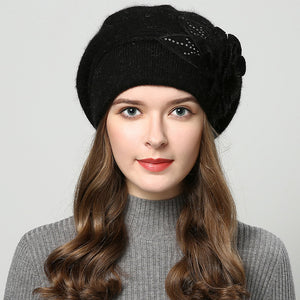 LouisAura™ Female Warm Winter Woolly Beret