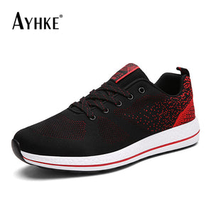 AYHKE Casual Men Shoes Sneakers Breathable Sneakers Mesh Red Blue Black Male Footwear