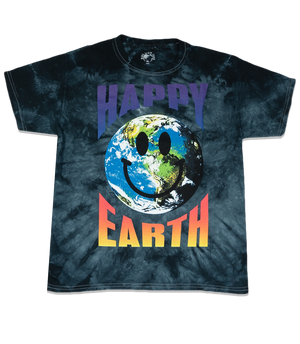 Happy Earth Kids T-shirt (Black)