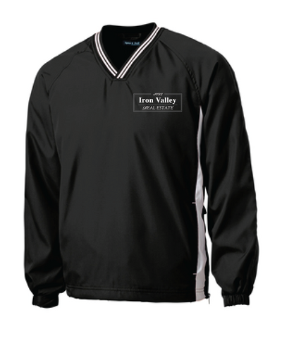 IVRE - Sport-Tek® Tipped V-Neck Raglan Wind Shirt