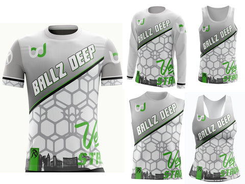 Ballz Deep - White Jersey