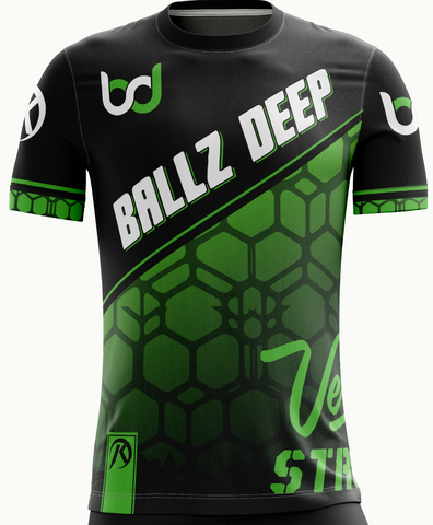 Ballz Deep Black Short Sleeve