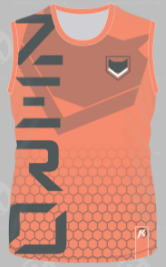 [ZERO] Orange Sleeveless Jersey