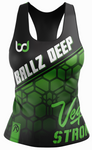 Ballz Deep Black Racerback