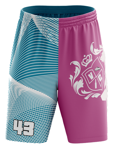 Vice City Ballers - Pink/Turq Shorts