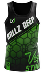 Ballz Deep Black Tank