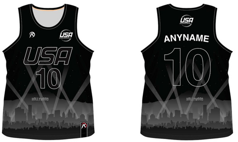 TEAM USA DODGEBALL - Black Tank Top Jersey