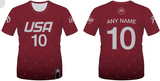TEAM USA DODGEBALL - Maroon Short Sleeve Jersey