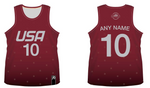 TEAM USA DODGEBALL - Maroon Tank Top Jersey