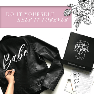 Bridesbabe Bash Box DIY Leather Jacket Kit - Bash Creative Design - The Original DIY Bridal Jacket Kits