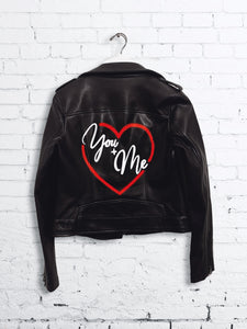 You + Me Hand Painted Jacket : LIMITED EDITION LOVE COLLECTION