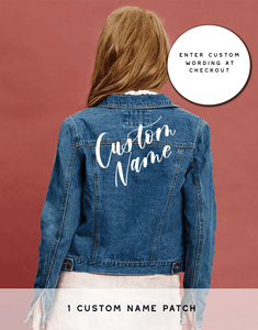 Custom Name Only - Bash Creative Design - The Original DIY Bridal Jacket Kits