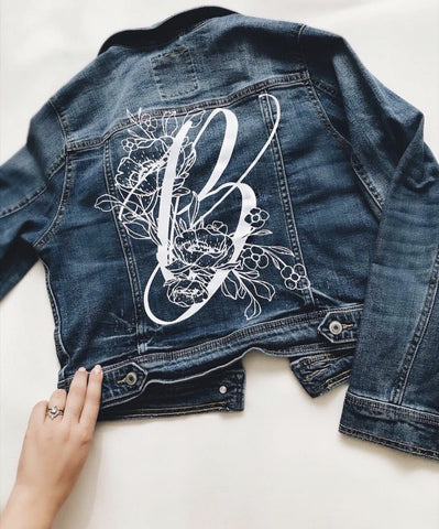 BOTANICAL MONOGRAM-DENIM