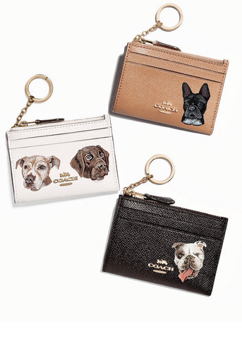Coach Skinny Wallet with Custom Pet Portrait