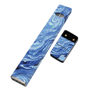 Pack of 2 Full Skin For JUUL- Blue Swirl - VaperSkins