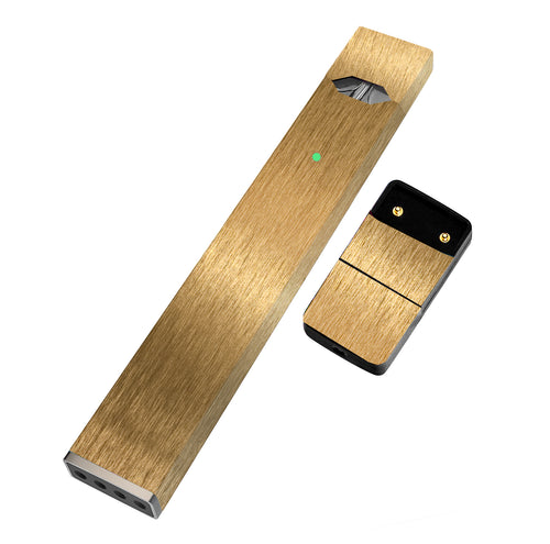 Pack of 2 Premium Full Skin for JUUL (Brushed Gold) - VaperSkins
