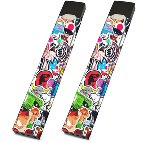 Skin For JUUL - Sticker Collage - Pack of 2 - VaperSkins
