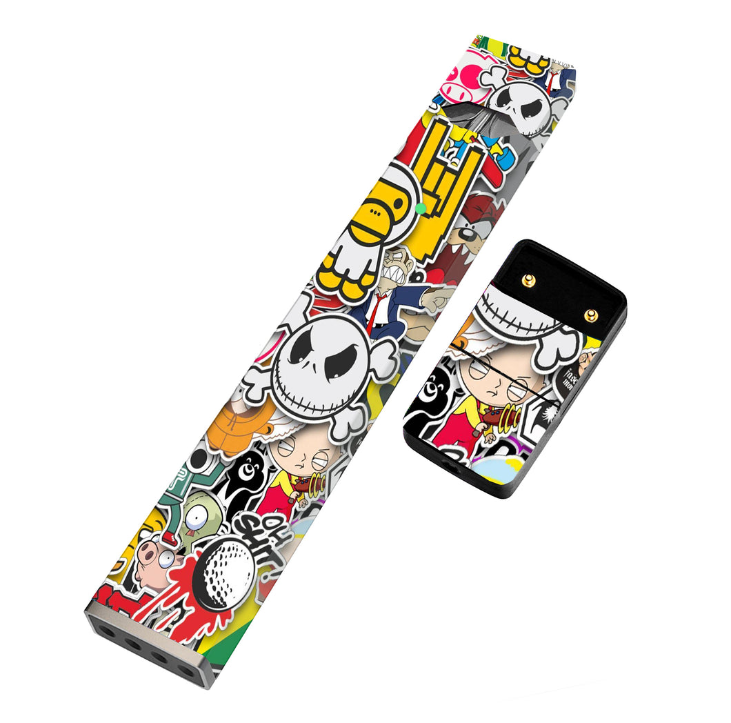 JUUL Skin Full Wrap - Sticker Collage - VaperSkins