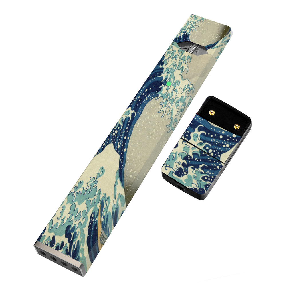 Pack of 2 Full Skin For JUUL - Wave Sketch - VaperSkins