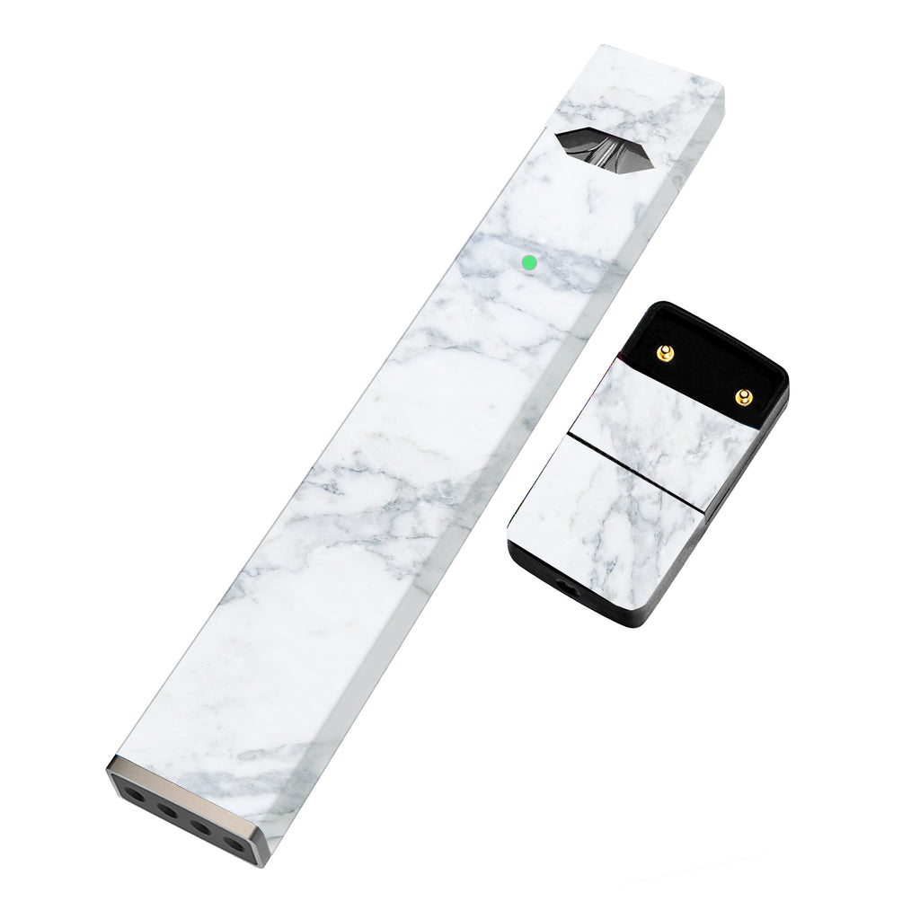 JUUL Skin Full Wrap  - White Marble - VaperSkins