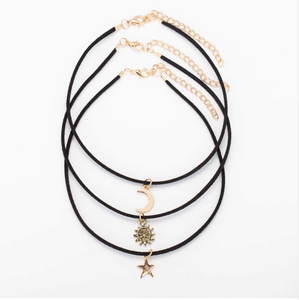 3 piece 'Sun Moon Star' choker set
