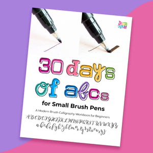 30 Days of ABCs for Small Brush Pens