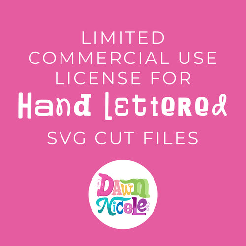 Limited Commercial Use License for SVG Cut Files
