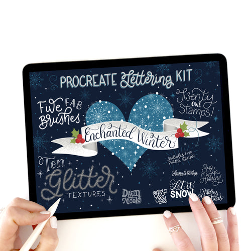 NEW! Enchanted Winter Procreate Lettering Kit