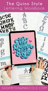 Quinn Lettering Style Workbook
