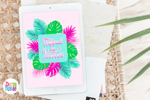 NEW! Tropical Vibes Procreate Lettering Kit