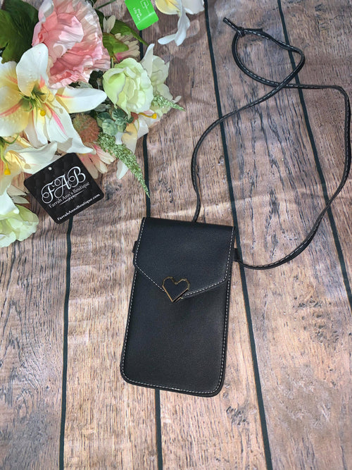 Cell Phone Cross Body-Black