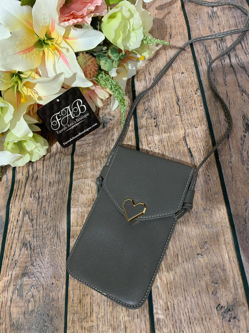 Cell Phone Cross Body-Gray