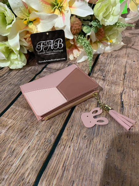 Tri-Color Billfold-Pink