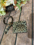 Card Holder Wristlet-Leopard