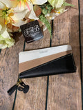 Black & Taupe Wallet