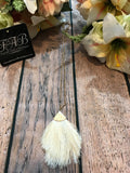 Fringe Necklace-Cream