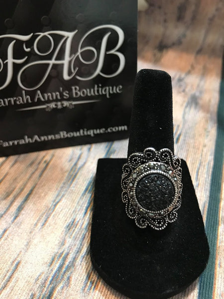 Round Sparkle Cocktail Ring