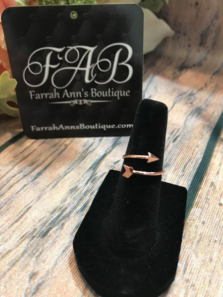 Arrow Ring-Rose Gold Tone