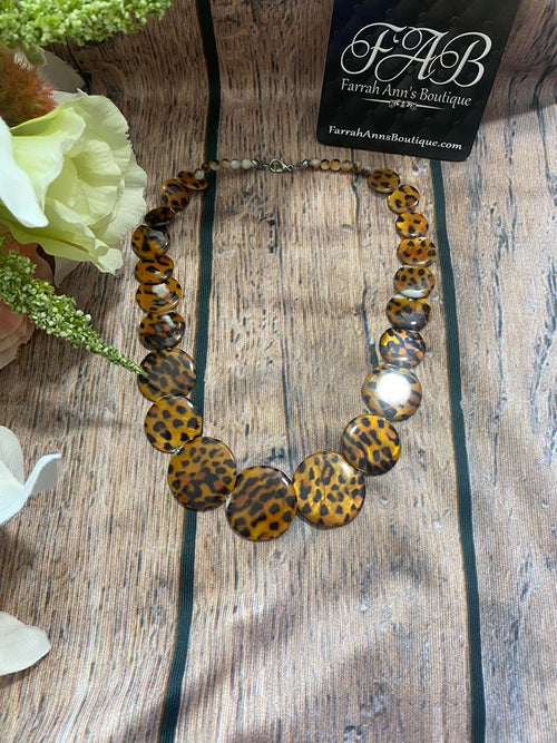 Brown Leopard Necklace