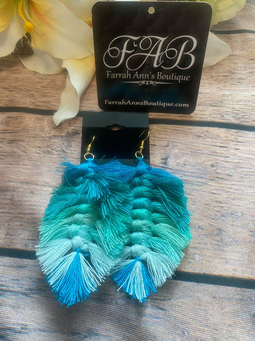 Feathered Fringies-Ombre' Teal