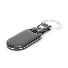 Fabolouz Carbon Keychain Key Fob with Stitched Leather